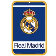 "Real Madrid Street Sign, Plastic, 11 x 17"", Blue"