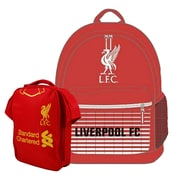 Liverpool Backpack and Lunch Bag Set, 2-Piece Set, Red