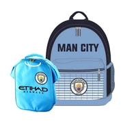 Manchester City Backpack and Lunch Bag Set, 2-Piece Set, Light Blue