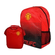Manchester United Backpack and Lunch Bag Set, 2-Piece Set, Red