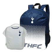 Tottenham Hotspur Backpack and Lunch Bag Set, 2-Piece Set, White/Blue