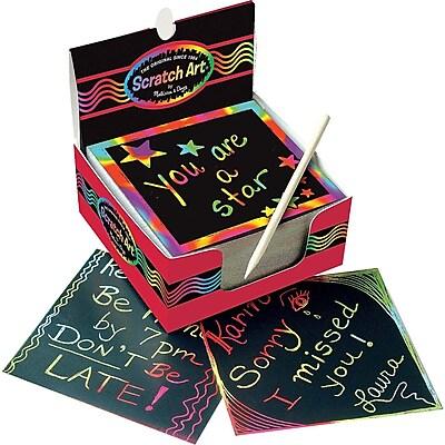 Melissa & Doug Rainbow Mini Scratch Art Notes (Box of 125) IM11N1588