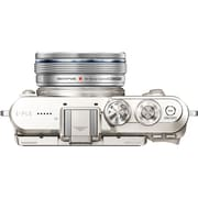 Olympus PEN E-PL8 16.1 Megapixel Mirrorless Camera with Lens, 14 mm, 42 mm, White