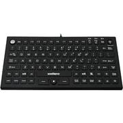 Wetkeys Waterproof Pro-grade Mid-size Keyboard w/ Pointing Device (USB) (Black)