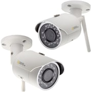 Q-see 3MP Wi-Fi Bullet Security Camera with (2) 16GB microSD Card Included (2-Pack) (QCW3MP1B16-2)