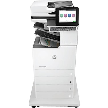 HP LaserJet M681f Laser Multifunction Printer, Color, Plain Paper Print, Floor Standing