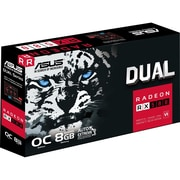 Asus DUAL-RX580-O8G Radeon RX 580 Graphic Card, 1.36 GHz Core, 1.38 GHz Boost Clock, 8 GB GDDR5
