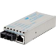 miConverter 10/100/1000 Gigabit Ethernet Fiber Media Converter RJ45 SC Single-Mode 12km