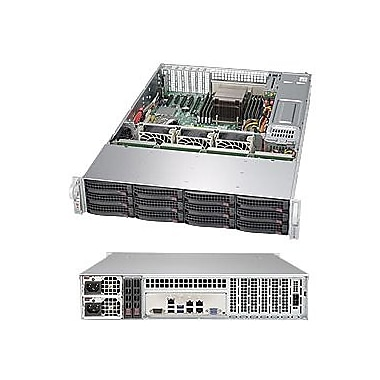 Supermicro SuperServer 5028R-E1CR12L Barebone System, 2U Rack-mountable, Intel C612 Chipset, Black
