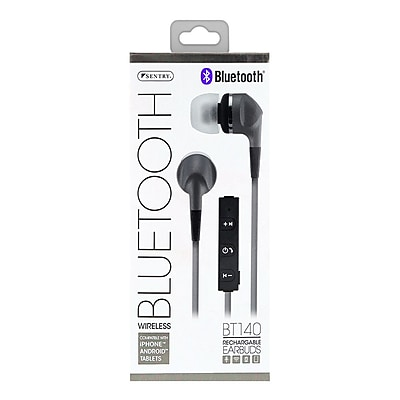 Sentry Bluetooth Earbud with Microphone, Silver