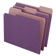 Pendaflex® Earthwise® Recycled Color File Folders, 3 Tab Positions, Letter, Violet, 100/Box (4335)