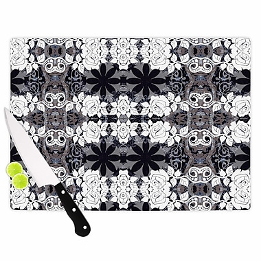 East Urban Home Suzanne Carter Glass 'Lacey' Cutting Board; 0.25'' H x 15.75'' W x 11.5'' D