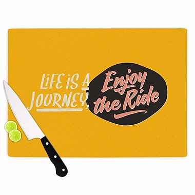 East Urban Home Juan Paolo Glass 'Enjoy the Ride Vintage' Cutting Board