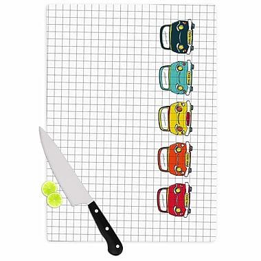 East Urban Home MaJoBV Glass 'Boys Rock Cars' Cutting Board; 0.25'' H x 11.5'' W x 8.25'' D