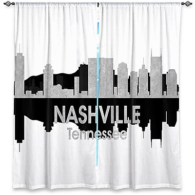 City IV Nashville Tennessee Angelina Vick's Graphic Print Room Darkening Curtain Panels (Set of 2)