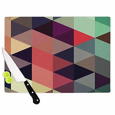 East Urban Home Juan Paolo Glass 'Labyrinth Geometric' Cutting Board; 0.25'' H x 11.5'' W x 8.25'' D