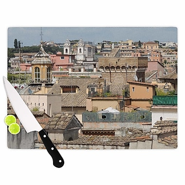 East Urban Home Nick Nareshni Glass 'Florence Italy Hillside Photography' Cutting Board