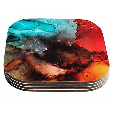 East Urban Home Abstract Anarchy 'Birth Place of the Heavens' Coaster (Set of 4)
