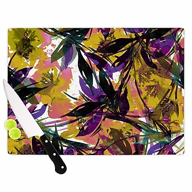East Urban Home Ebi Emporium Glass 'Floral Fiesta' Cutting Board; 0.25'' H x 15.75'' W x 11.5'' D