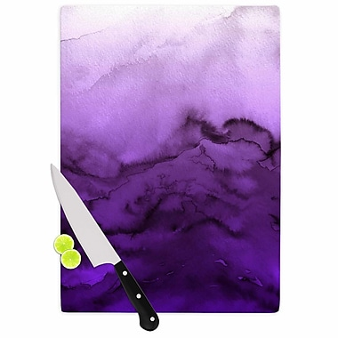 East Urban Home Ebi Emporium Glass 'Winter Waves 9 Abstract' Cutting Board