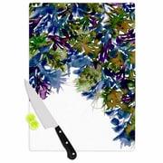 East Urban Home Ebi Emporium Glass 'Floral Cascade 4' Cutting Board; 0.25'' H x 15.75'' W x 11.5'' D