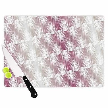 East Urban Home Gukuuki Glass 'Stripe Palms' Cutting Board; 0.25'' H x 11.5'' W x 8.25'' D