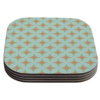 East Urban Home Retro Aquamarine' Coaster (Set of 4)