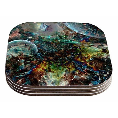 East Urban Home Shirlei Patricia Muniz 'Space' Abstract Coaster (Set of 4)