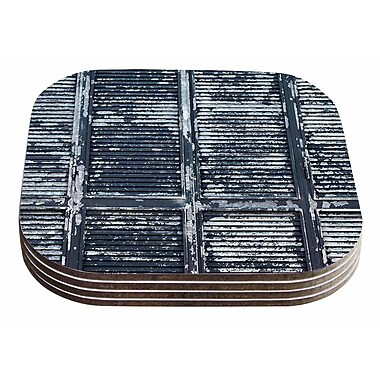 East Urban Home Susan Sanders 'Rustic Shutters' Nautical Coaster (Set of 4)