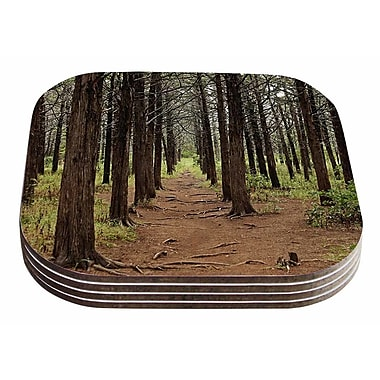 East Urban Home Sylvia Coomes 'Parallel Forest' Photography Coaster (Set of 4)