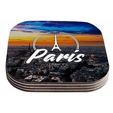 East Urban Home Paris' Travel Coaster (Set of 4)