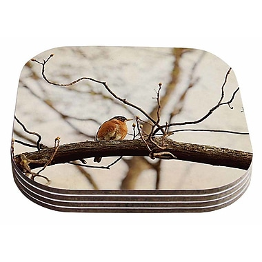 East Urban Home Angie Turner 'Spring Robin' Coaster (Set of 4)