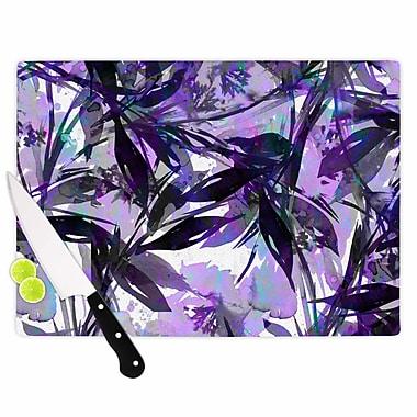 East Urban Home Ebi Emporium Glass 'Floral Fiesta Painting' Cutting Board