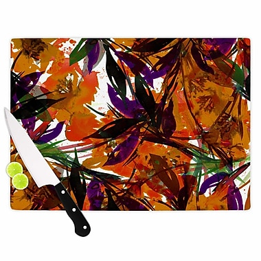 East Urban Home Ebi Emporium Glass 'Floral Fiesta Floral Painting' Cutting Board