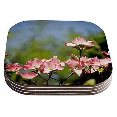 East Urban Home Angie Turner 'Dogwood' Digital Floral Coaster (Set of 4)