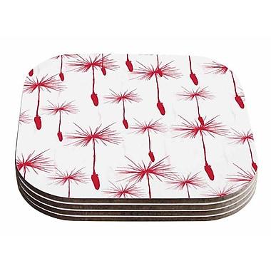 East Urban Home Suzanne Carter 'Dandelion' Floral Coaster (Set of 4)