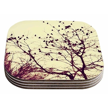 East Urban Home Sylvia Coomes 'Darkness Into Light' Nature Coaster (Set of 4)