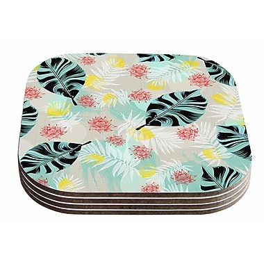 East Urban Home Mmartabc 'Tropical Plants' Illustration Coaster (Set of 4)