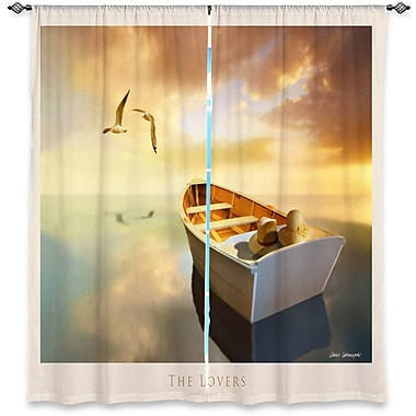 Callendale Carlos Casamayor's The Lovers Birds and Boats Room Darkening Curtain Panels (Set of 2)
