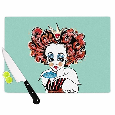 East Urban Home Zara Martina Glass 'Queen Redhead' Cutting Board; 0.25'' H x 15.75'' W x 11.5'' D