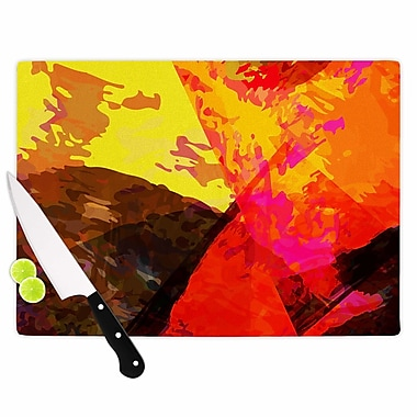East Urban Home Matthias Hennig Glass 'Into the Fire' Cutting Board; 0.25'' H x 11.5'' W x 8.25'' D