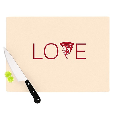East Urban Home Glass 'Slice of Love' Cutting Board; 0.25'' H x 15.75'' W x 11.5'' D