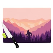 East Urban Home Glass 'Big Foot' Cutting Board; 0.25'' H x 11.5'' W x 8.25'' D