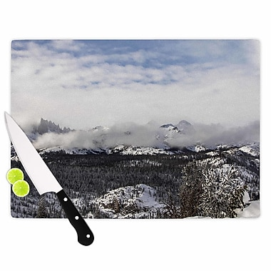 East Urban Home Juan Paolo Glass 'Top of the Summit' Cutting Board; 0.25'' H x 15.75'' W x 11.5'' D