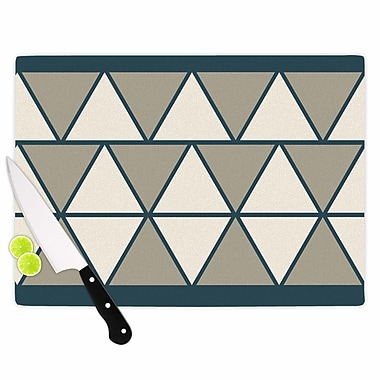 East Urban Home NL designs Glass 'Sandstone Triangles Geometric' Cutting Board