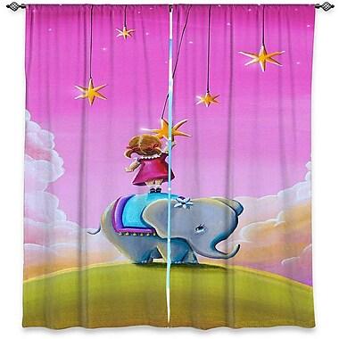 Zoomie Kids Reagan Cindy Thornton's Elephant Stars Room Darkening Curtain Panels (Set of 2)