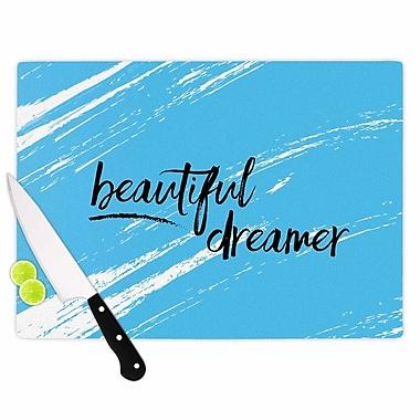 East Urban Home NL designs Glass 'Beautiful Dreamer Typography' Cutting Board