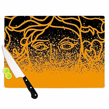 East Urban Home Just L Glass 'Versus Spray Abstract Illustration' Cutting Board