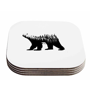 East Urban Home BarmalisiRTB 'The Bear' Illustration Coaster (Set of 4)