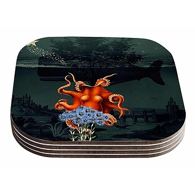 East Urban Home Suzanne Carter 'Under the Deep Sea' Coaster (Set of 4)